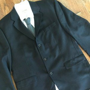 Calvin Klein Black Wool Sport Coat Suit Jacket 44R